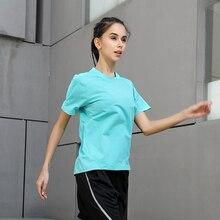 Women Quick Dry Short Sleeve Slim Sport T Shirt Running Tops