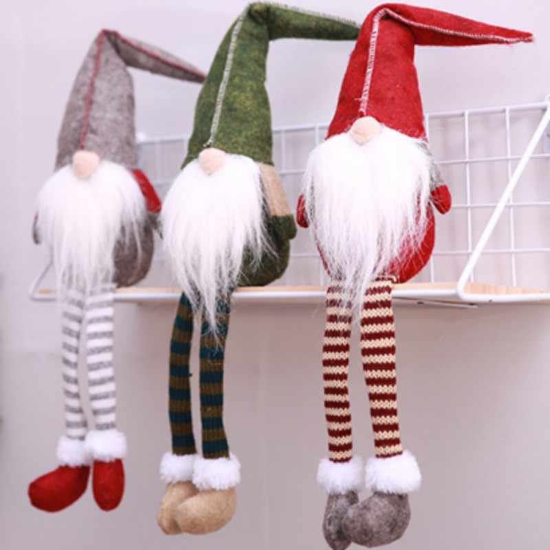2019 Christmas Decorations for Home Cute Sitting Elf Festival New Year Dinner Party Home Christmas Decoration Christmas Gift