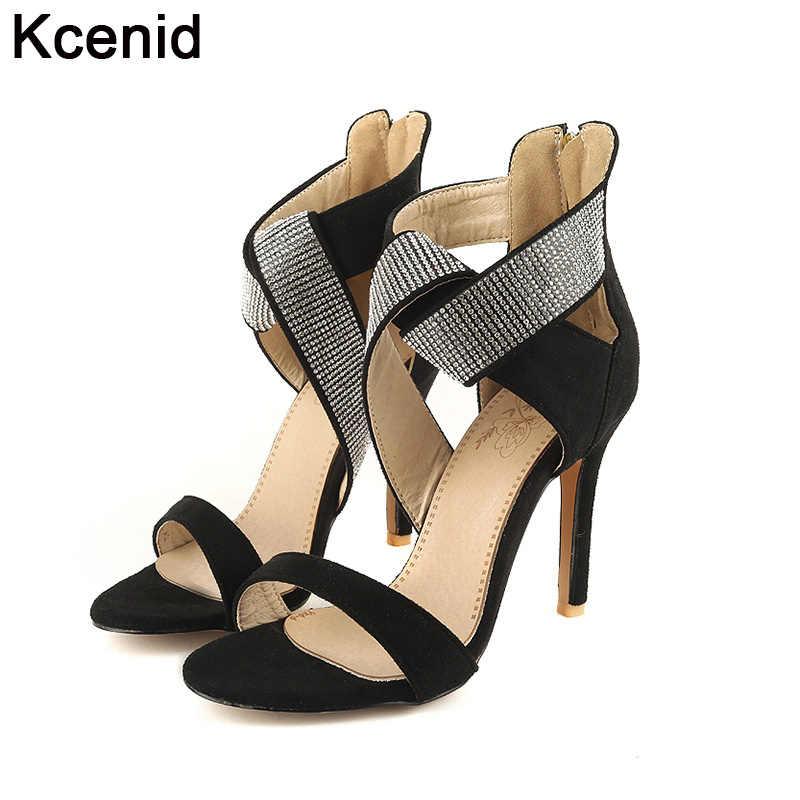 3deabafa86c Kcenid Большие размеры 12 33-46 женские модные 2017 Летняя обувь с открытым  носком Обувь