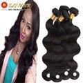 """8A Peruvian Virgin Hair Body Wave With Closure 4Bundles 8""""-26"""" Unprocessed Natural Human Hair With Closure And Bang 410g"""