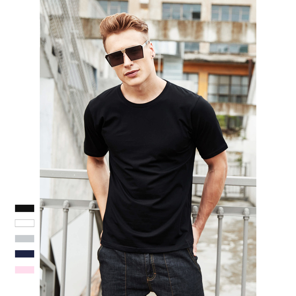Solid Color Quality 100%Cotton Women/Men T-Shirt Casual Unisex Tops No Deformation Not Shrink Worsted Simple Breathable Tees