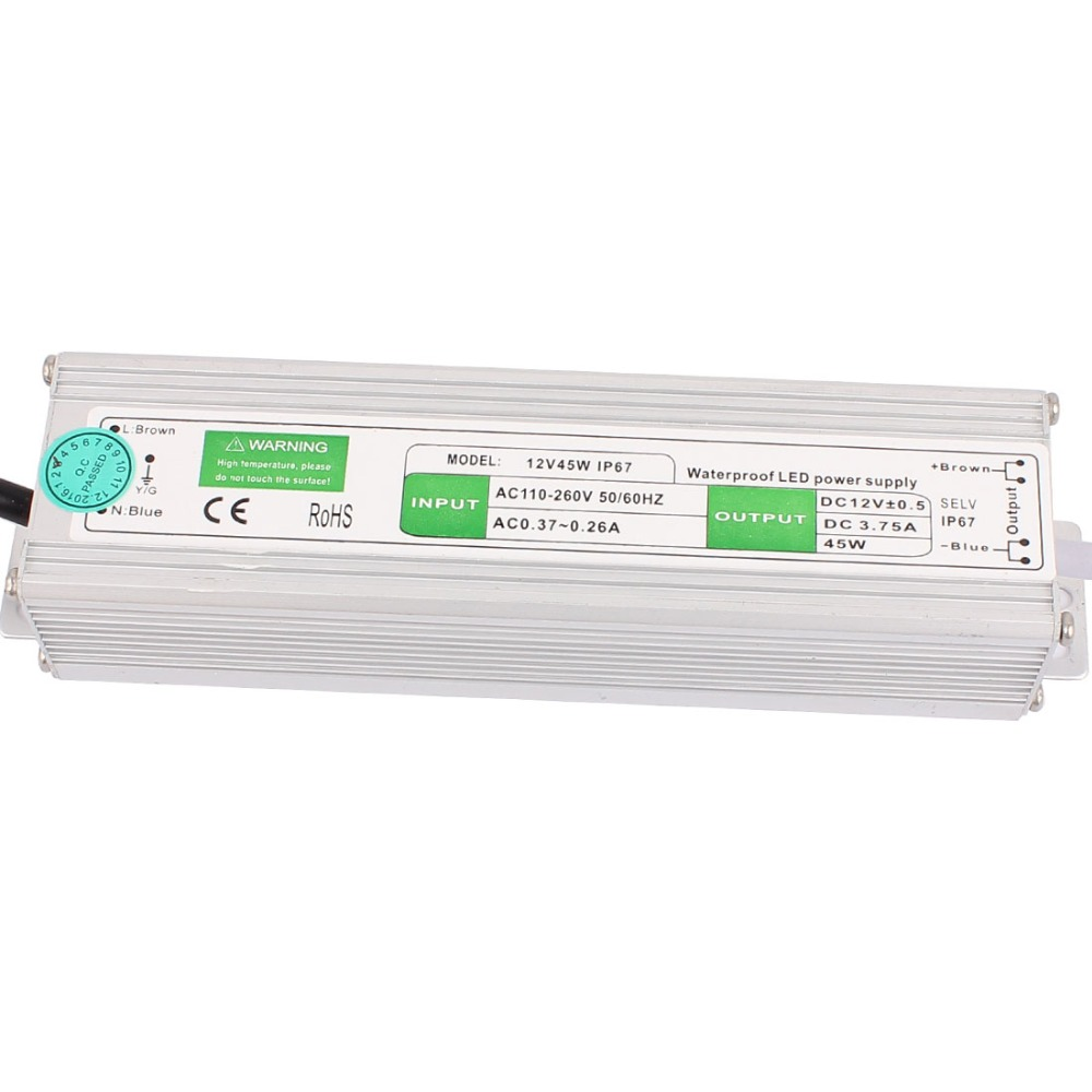 AC 110~260V to DC 12V 150W US Plug IP67 Waterproof Electronic LED Driver Power Supply LED Strip Strings Lamp Transformer Adapter dc 12v 80w waterproof electronic led driver transformer power supply