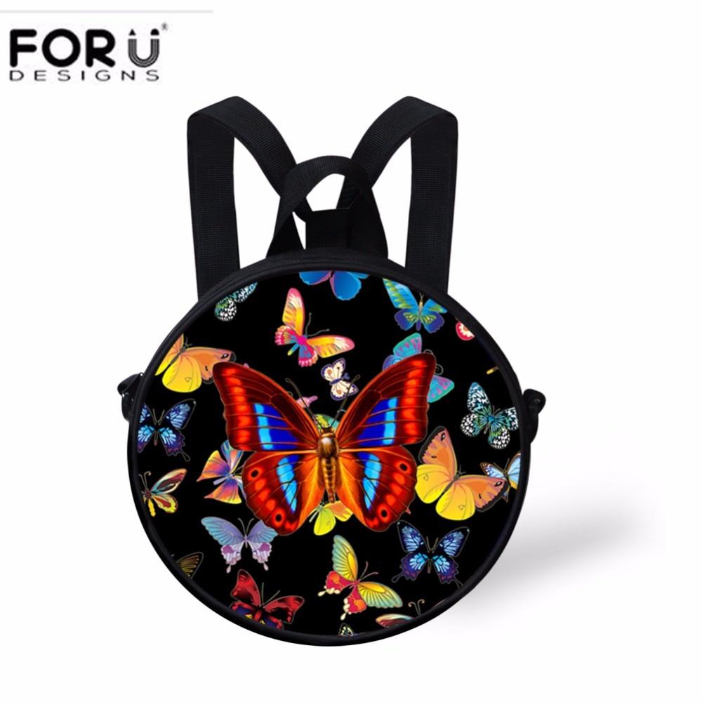 FORUDESIGNS Kids Mini Schoolbag,10 inch School Bags for Boys Girls,Small Children Kindergarten Cute Cat Print School Book Bag
