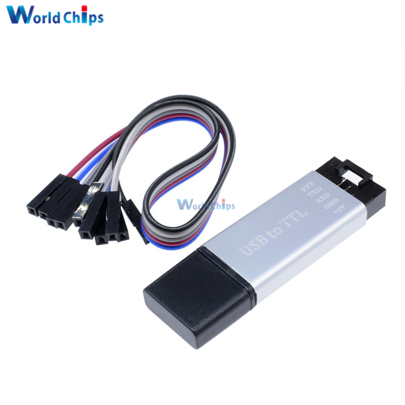 Aluminum Shell CP2102 USB 2.0 To TTL UART Module 5Pin Serial Converter STC Replace FT232 Module Support 5V/3.3V