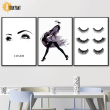 Eyelash Fashion Makeup Watercolor Vogue Wall Art Canvas Painting Nordic Posters And Prints Pictures For Living Room Decor