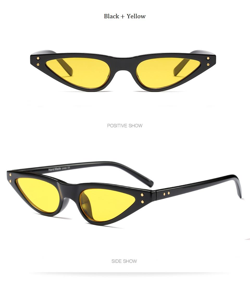 HTB1G1WNdN6I8KJjSszfq6yZVXXax - Unisex Flat Top Eyeglasses Small Triangle Frame Cat Eye Sunglasses Women UV400 2018 Fashion Color Ocean Film Sun Glasses Cool