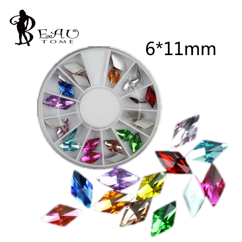 Rhinestones & Decorations 11mm Imitation Diamond Drill Glass Shaped Japanese Diy Manicure Mobile Phone Nail Jewelry Accessories Smoothing Circulation And Stopping Pains Beautome 24pcs/box 6 Beauty & Health