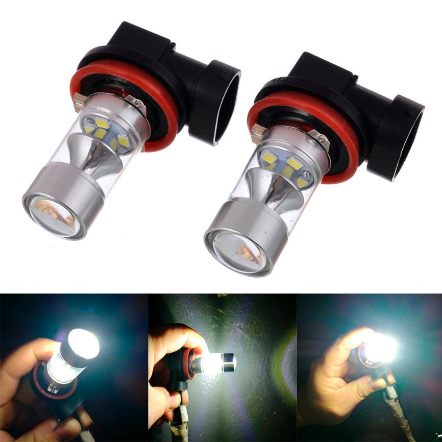 2018 HOT SALE car styling 2PC 60W 2323 12LED H8 H11 High Power Led Car Fog Lights car Accessories Vicky