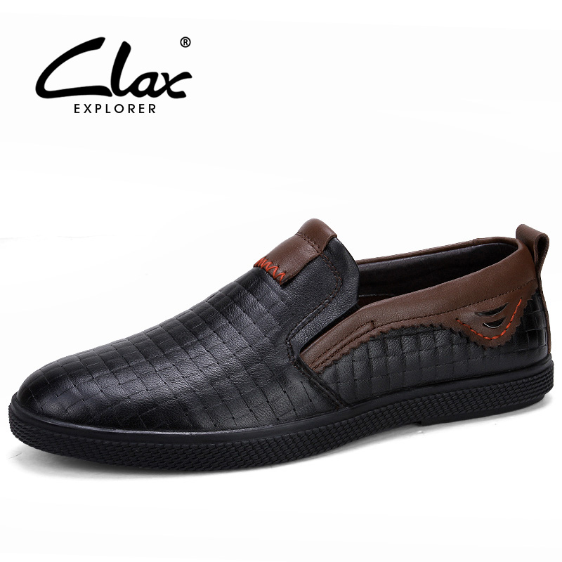 CLAX Men Casual Shoe Genuine Leather 2018 Spring Summer Men's Moccasin Slip on Leather Loafers Shoes Soft Breathable Footwear top brand high quality genuine leather casual men shoes cow suede comfortable loafers soft breathable shoes men flats warm