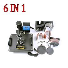 Digital Manual Combo Heat Press Machines, 6 in 1 combo mug photo printing maqchine