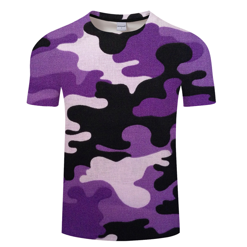 Summer leisure men's 3d print t shirt, men and women's t shirt with various patterns in camouflage, Asian size s-6xl