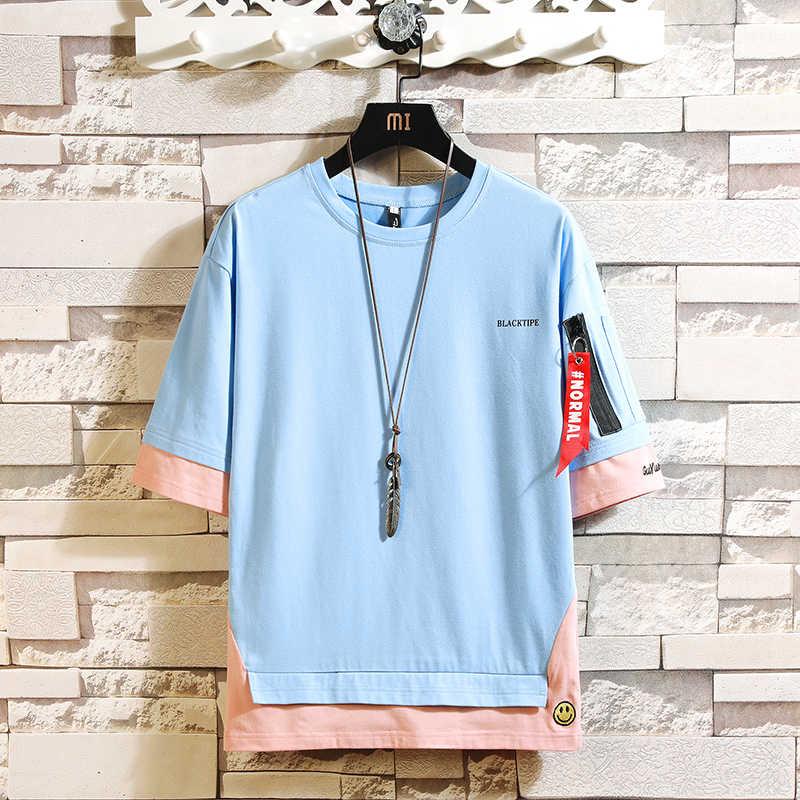 Moda pół rękawy moda O NECK T-shirt z nadrukiem męska bawełna 2020 letnie ubrania koszulki Tshirt Plus rozmiar azjatycki M-5X.