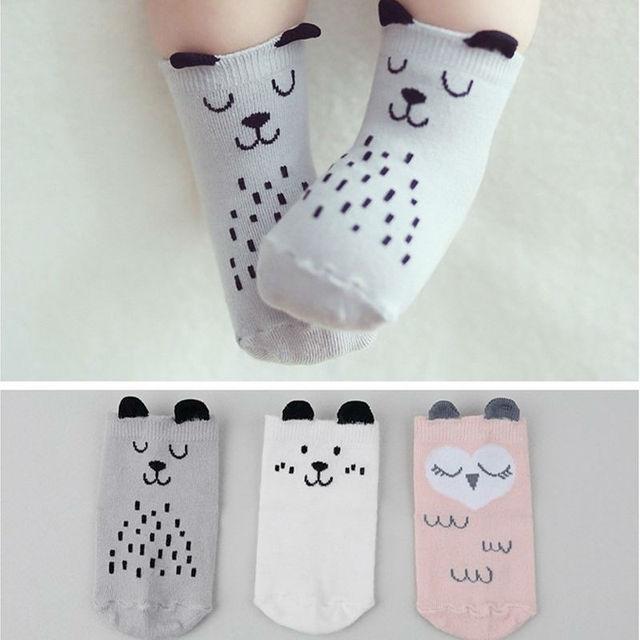 Newborn Baby Sock Cute Owl Socks Cartoon Anti Skid Children S Socks