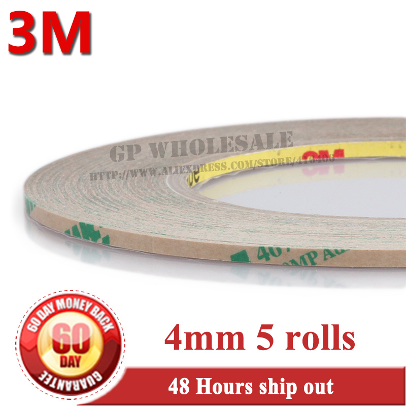 5Rolls 0.06mm Thickness, 4mm*55 meters 3M 467MP 200MP Double Sided Sticky Tape, for LCD /Touch Screen Digitizer Adhesive 50pcs lot oca optical clear adhesive double side sticker for note 8 n950 lcd digitizer thickness 125um