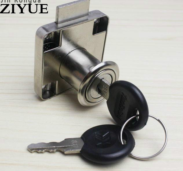 2pcs Free Shipping Furniture Square Tongue Office Desk Drawer Lock Wardrobe Locks