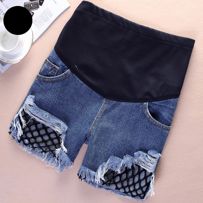 2018 New Summer Pregnant Women Shorts Jeans Holes Denim Care Belly Maternity Pants Plus Size M-3XL 88