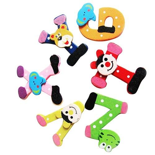 26x алфавита животных Деревянный магнит на холодильник Развивающие игрушки для Для детей 5gaa