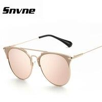 Snvne metal Sunglasses brand cat eye feminino lentes oculos gafas de sol lunette soleil masculino hombre glasses male mujer
