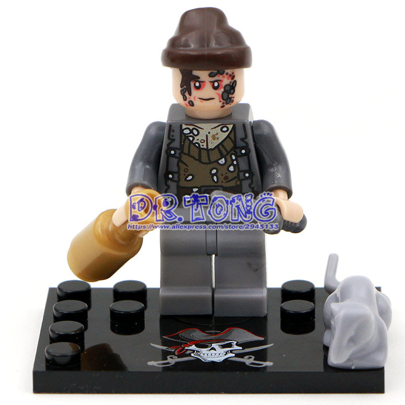 DR.TONG Singal Sale KSZ515 Pirates of the Caribbean Captain Jack Sparrow David Jones Maccus Super Heroes Building Blocks TOYS
