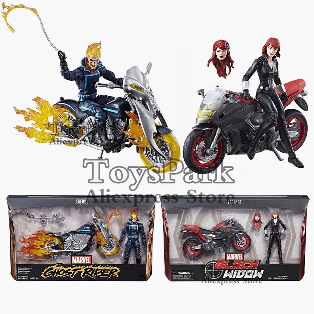 """2018 Marvel Legends Serie Ghost Rider Black Widow 6 """"Figura di Azione Con Il Motociclo Ultima Fiamma Ciclo di Modello Della Bambola Da Collezione-in Action figure e personaggi giocattolo da Giocattoli e hobby su  Gruppo 1"""