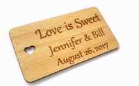 Personalized Love Wedding Tags Custom Engraved Wooden Tags Wedding Favor Tags Rustic Wedding Bridal Shower Favor