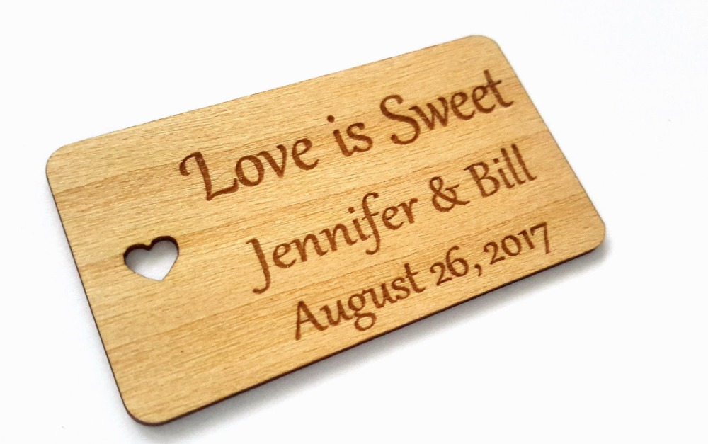 Personalized Love wedding tags , custom Engraved Wooden Tags, wedding favor tags, rustic wedding , Bridal Shower Favor Tags