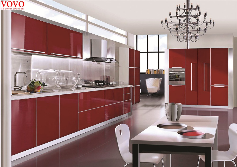 Rose Red Kitchen Cabinets In Kitchen Cabinets From Home Improvement On Alibaba