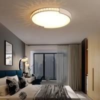 Ultra thin Crystal Chandelier For Living Room Bedroom Modern Led Ceiling Chandelier Lighting Fixtures lustre luminaria Free Ship