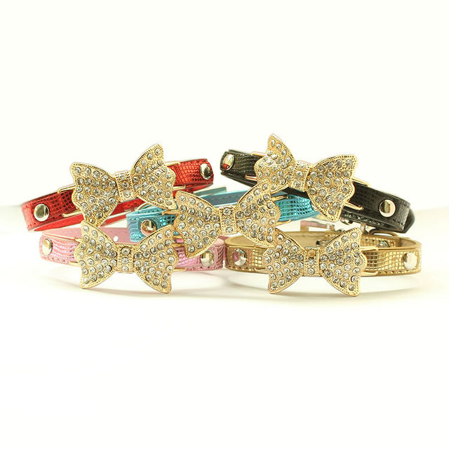 Armi store Rhinestone Bow Dog Collar For Dogs Leashes Leash Collars  6041002 Pet Puppy Accessories XS/S/M