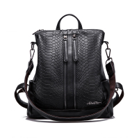 PU Leather Backpacks Fashion Small Shoulder Bag Snake Pattern Backpack Embossed School Bags Backpack Women LIKETHIS
