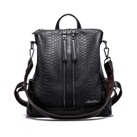 PU Leather Backpacks Fashion Small Shoulder Bag Snake Pattern Backpack Embossed School Bags Backpack Women LIKETHIS 168 175