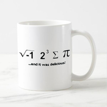 Novelty Math Geek Coffee Mug Funny Saying Quote Tea Beer Mugs Cups I Ate Some Pie And It Was Delicious Creative Xmas Gifts 11oz