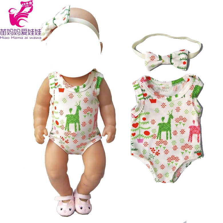 Одежда для куклы-младенца 18 дюймов 43 см Новорожденный ребенок купальник для куклы Олень Детские комбинезоны кукла Фламинго наряд