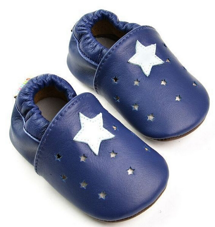 28 colors printing Newborn Baby Genuine Leather shoes Baby girls Moccasins Soft bottom firstwalker Anti-slip Infant Footwear