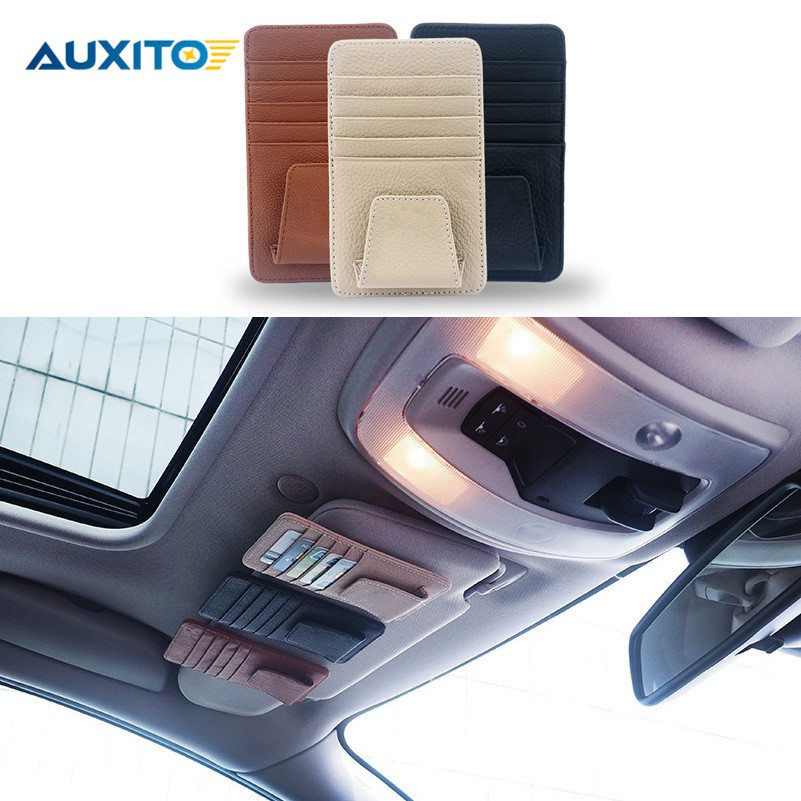 Car Styling Genuine Leather Card Case For Ford Focus 1 2 3 Fiesta Mondeo 4 Fusion Kuga C max Transit Ecosport Accessories S Max