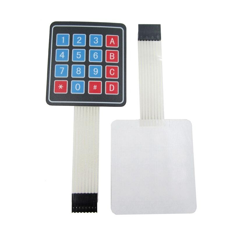 100pcs/lot 4*4 4x4 Matrix Array Keyboard 16 Key Membrane Switch Keypad For DIY Starter Kit