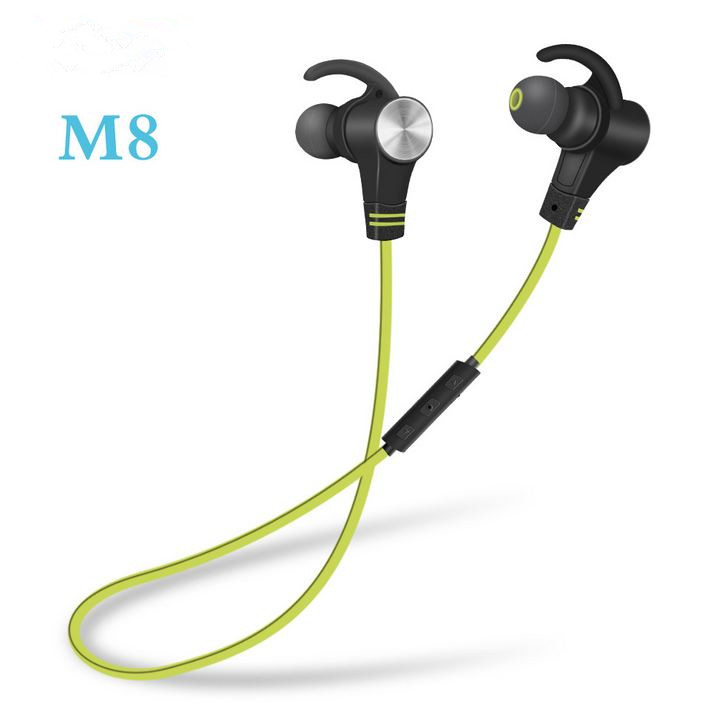 Bluetooth Earphone Headphones with Magnet Attraction Slim Ear Hook Wireless Headphone Sport Earbuds with Mic
