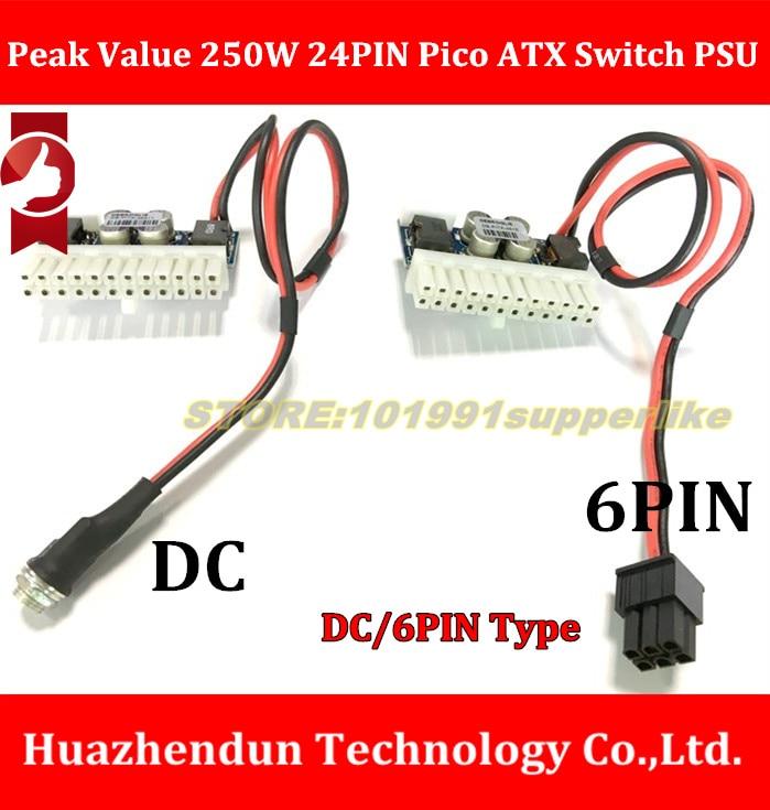 DEBROGLIE 1 pcs Valeur de Crête 250 w 24PIN Pico ATX Commutateur PSU Car Auto Mini ITX DC À DC PSU DC/6Pin-ATX puissance module ITX Z1 Mise À Niveau