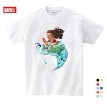 New Boys Girls T-shirt Kids Tees Baby Girl Shirts Cartoon Moana Ocean Romance T Shirt Tops Cotton Children's Summer T-shirts