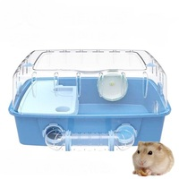 A1 Acrylic transparent wire pipe hamster gold bear landscape luxury oversized cage small pet supplies AP1091537