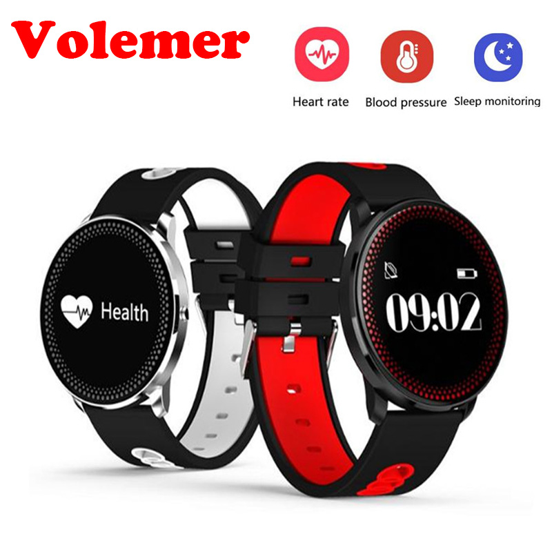 Volemer CF007 Waterppoorf Smart Bracelet With Heart Rate Blood Pressure Monitor ing Weather Forecast Remind Fitness Wristband
