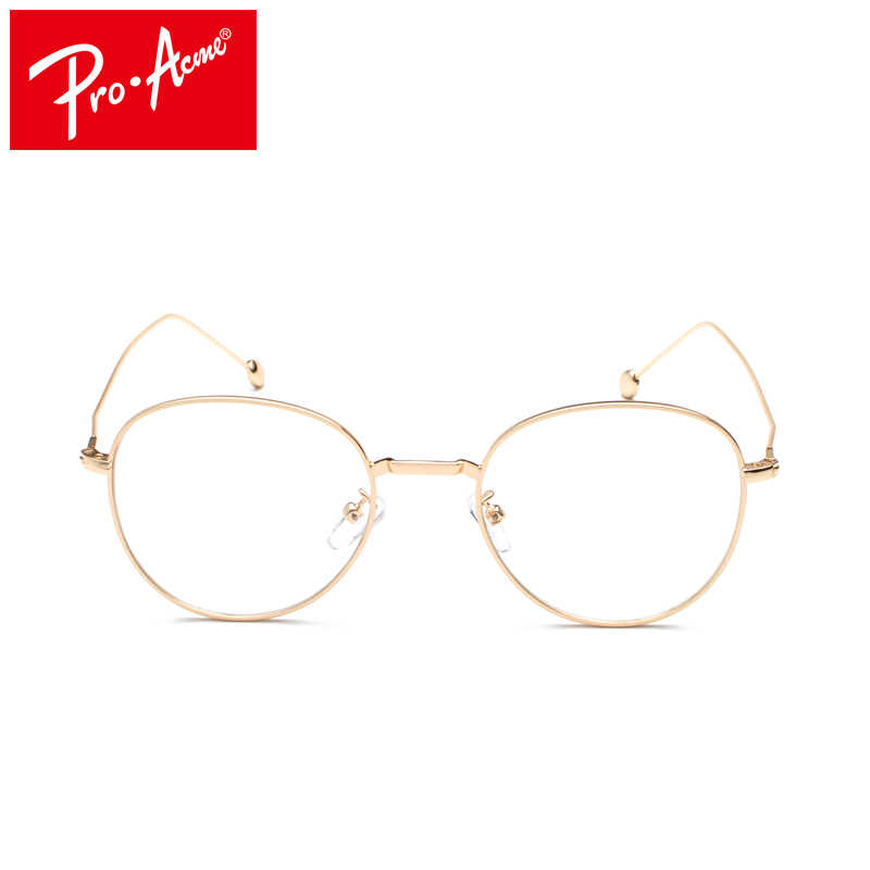 90b45fb7aed7 ... Pro Acme Fashion Round Spectacle Glasses Frames for Women Transparent  Clear Glasses Frame Computer Optical Eyeglasses ...