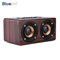 Retro Classic Wooden Bluetooth Stereo Speaker HIFI Wireless 3D Dual Loud Speakers Surround Mini Portable Altavoz