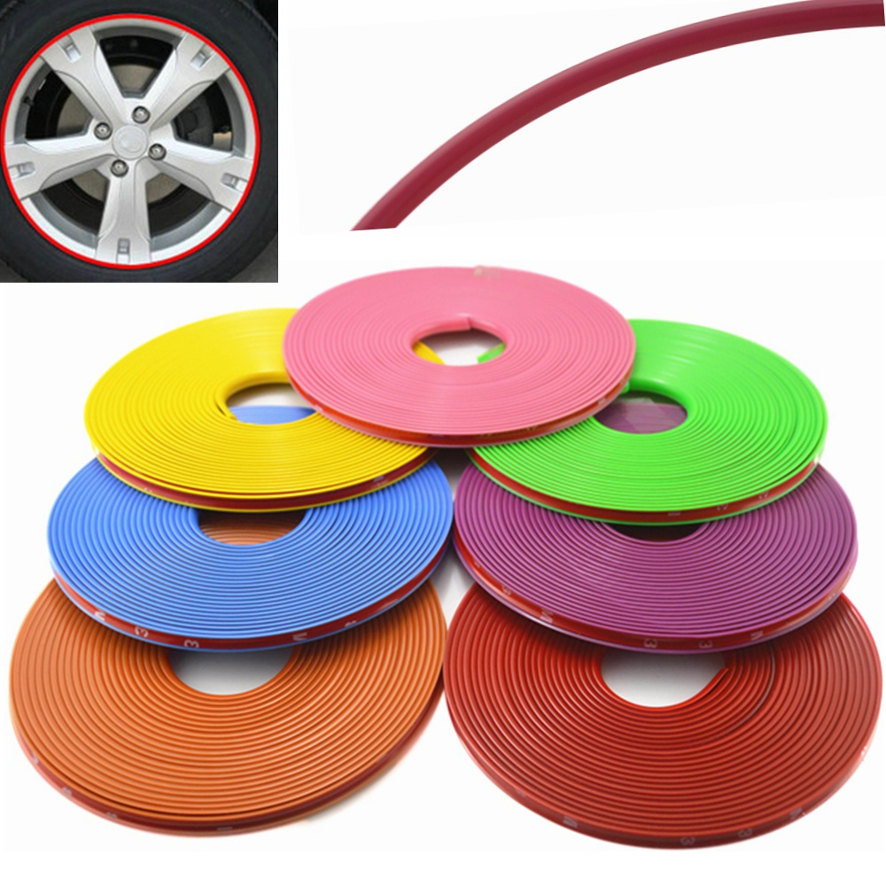 Online color wheel games - Universal 8m Roll Car Styling Car Vehicle Color Wheel Rims Protector Care Tire Guard