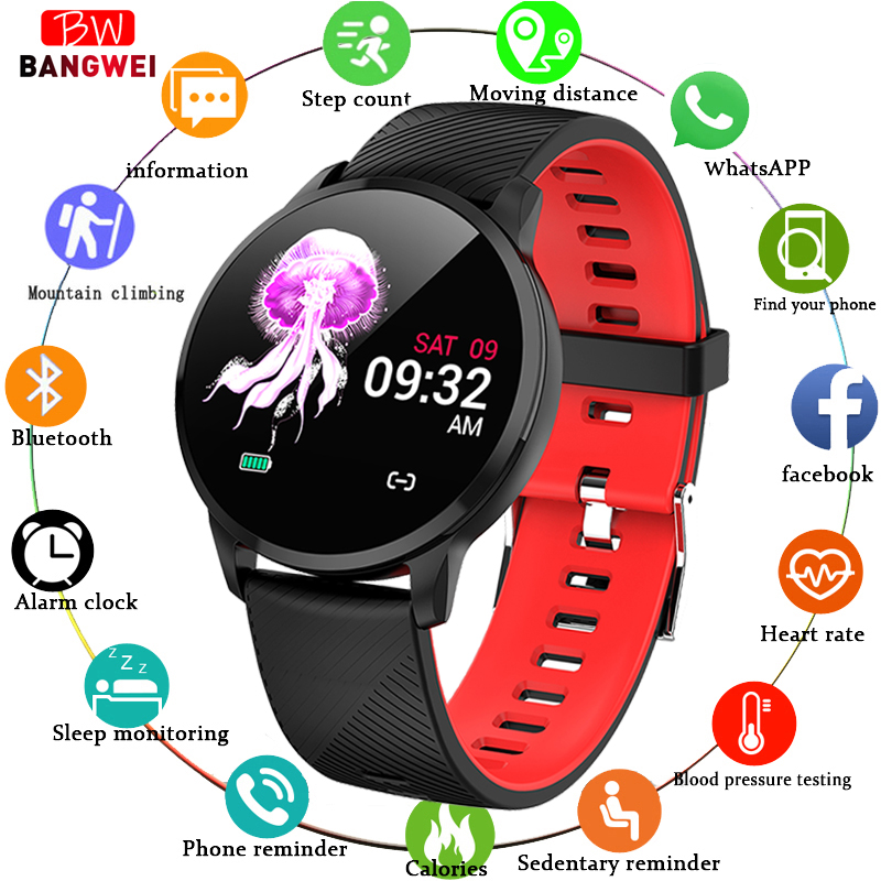 LIGE Women Sport Smart Bracelet Waterproof Fitness Tracker Blood Pressure Heart Rate Monitor Pedometer Watch For Android ios+BoxLIGE Women Sport Smart Bracelet Waterproof Fitness Tracker Blood Pressure Heart Rate Monitor Pedometer Watch For Android ios+Box