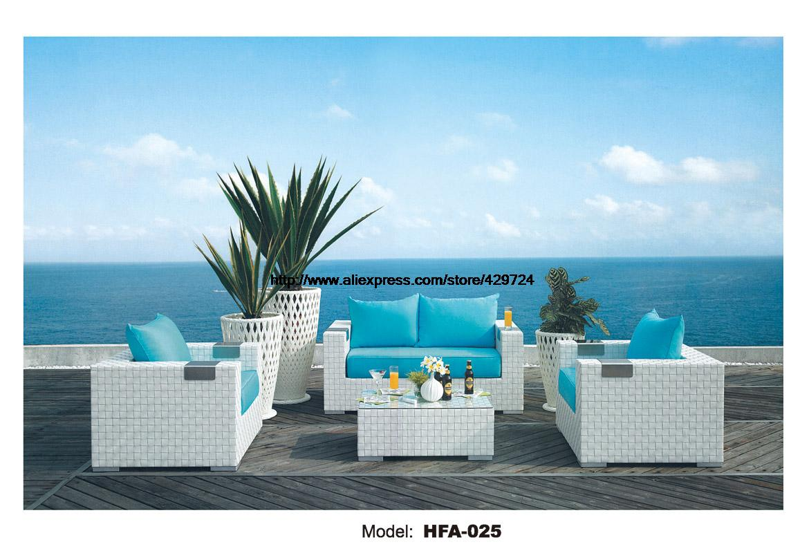 MYBESTFURN 123 Model Sectional Rattan Sofa Whole Set Include Table Cushions Garden Outdoor Health Rattan Vine Furniture HFA025
