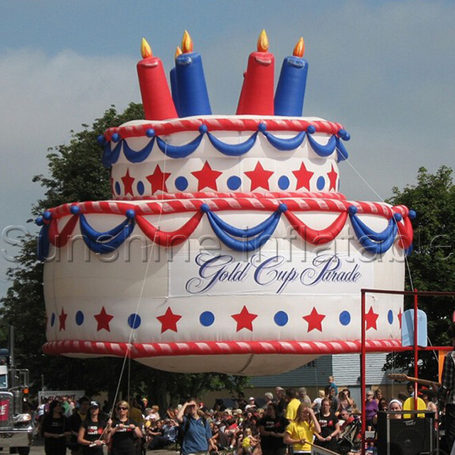 Customized Latest Giant Inflatable Birthday Cake Model For Party Decoration Or Advertising-in