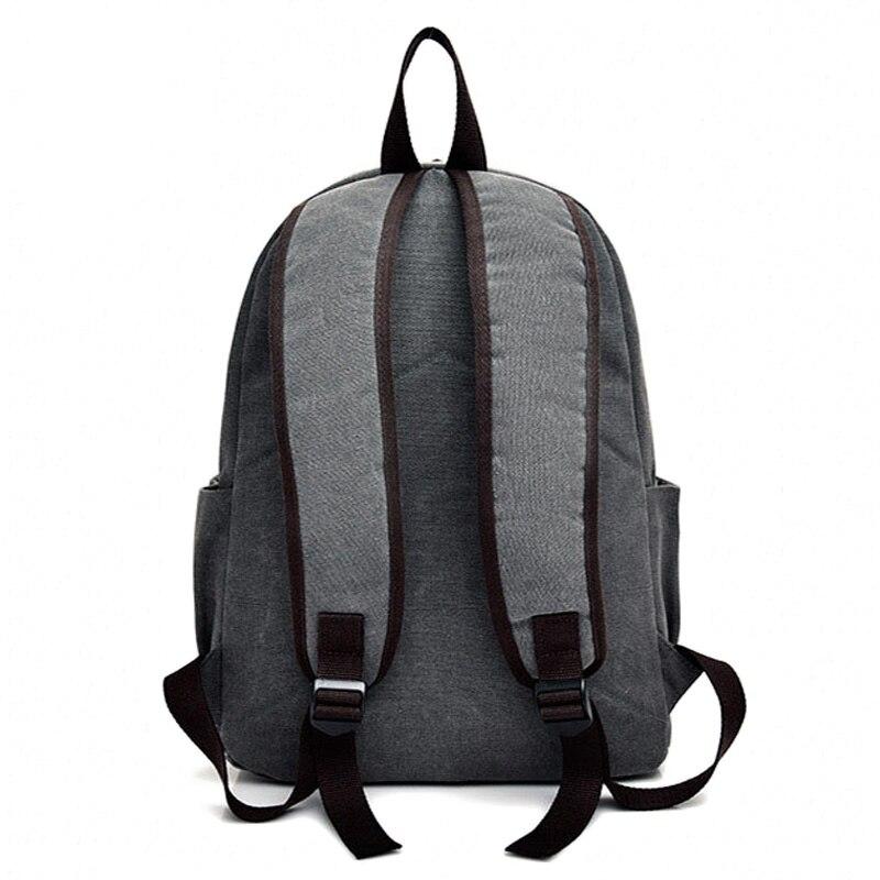 301328681b51 Men Canvas Backpack Teenage Boys School Bag Laptop Backpacks Students Casual  Travel Rucksack Large Book Bags Brown Black XA1916C-in Backpacks from  Luggage ...