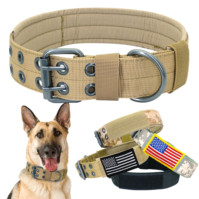 Draft – Military Dog Collar Wide Nylon Dogs Collar Tactical Pet Collars for Medium Large Dog K9 German Shepard Outdoor Walking Training