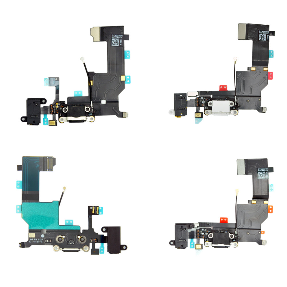 "Replacement Charging Flex Cable For iPhone 4 4S 5 5S 6 6S 4.7"" USB Charger Port Dock Plug Connector With Mic Flex Cable(China)"